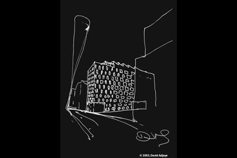 David Adjaye Rivington Place illustration